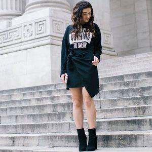 Zara Tie Front Black Skirt , Short, Blogger Fav M